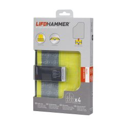 LIFEHAMMER Warnweste ″Safety Vest Ultra″ inkl. Hi-Vis Label, 4er Set